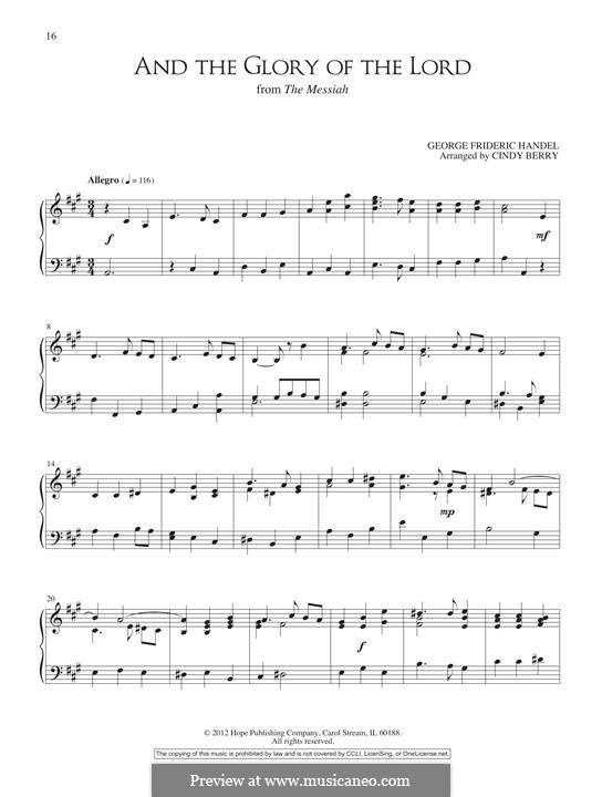 Nr.4 Denn die Herrlichkeit Gottes des Herrn: Für Klavier by Georg Friedrich Händel