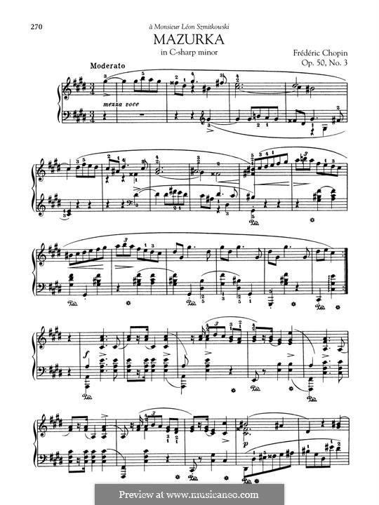 Mazurkas, Op.50: No.3 in C Sharp Minor by Frédéric Chopin