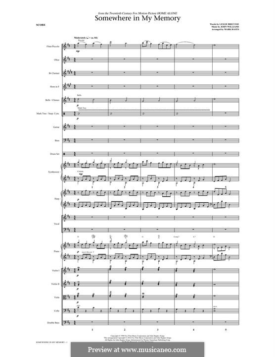 Somewhere in My Memory: Full score (arr. Mark Hayes) by John Williams