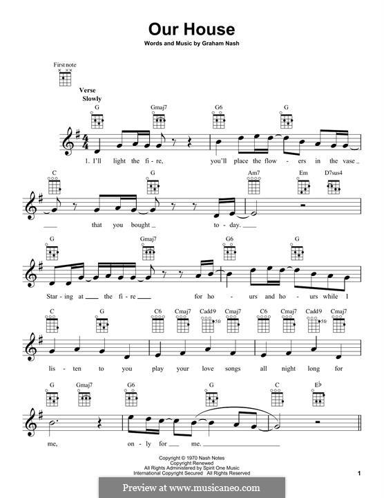 Our House (Crosby, Stills & Nash): Für Ukulele by Graham Nash