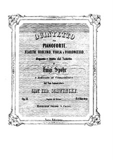 Grosses Nonett, Op.31: Für Flöte, Streicher und Klavier – Klavierstimme by Louis Spohr