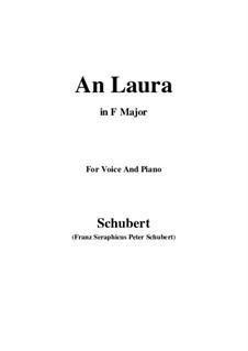An Laura, D.115: F-Dur by Franz Schubert