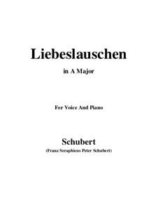 Des Fräuleins Liebeslauschen, D.698: Für Stimme und Klavier (A Major) by Franz Schubert
