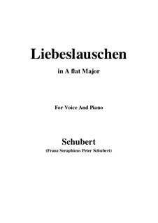 Des Fräuleins Liebeslauschen, D.698: Für Stimme und Klavier (A Flat Major) by Franz Schubert