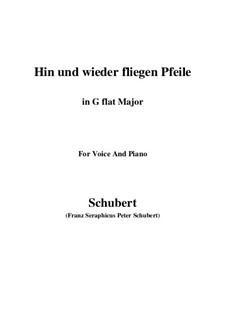 Hin und wieder fliegen Pfeile: G flat Major by Franz Schubert