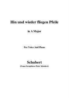 Hin und wieder fliegen Pfeile: A-Dur by Franz Schubert