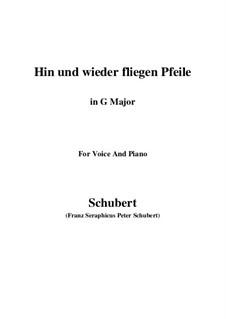 Hin und wieder fliegen Pfeile: G Major by Franz Schubert
