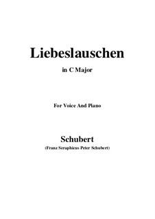 Des Fräuleins Liebeslauschen, D.698: Für Stimme und Klavier (C Major) by Franz Schubert