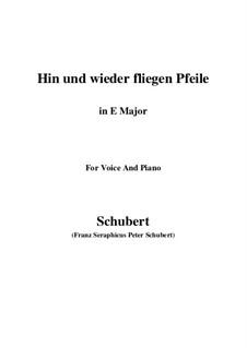 Hin und wieder fliegen Pfeile: E Major by Franz Schubert
