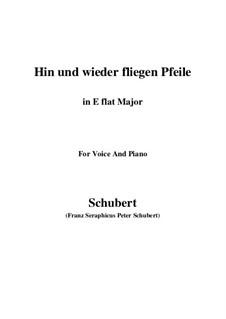 Hin und wieder fliegen Pfeile: E flat Major by Franz Schubert