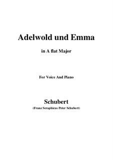 Adelwold und Emma, D.211: A flat Major by Franz Schubert