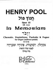 In Memoriam, Op.15, 15a: Für Orgel (or Harmonium) by Henry Pool