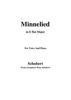 Minnelied, D.429: Für Stimme und Klavier (E Flat Major) by Franz Schubert