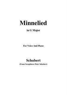 Minnelied, D.429: Für Stimme und Klavier (G Major) by Franz Schubert