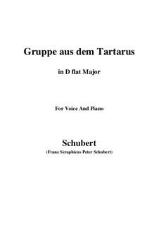 Gruppe aus dem Tartarus, D.583 Op.24 No.1: For voice and piano (D flat Major) by Franz Schubert