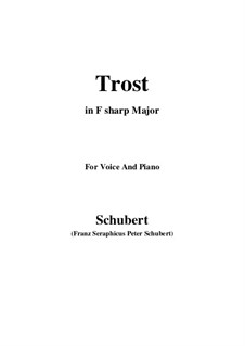 Trost, D.671: F sharp Major by Franz Schubert