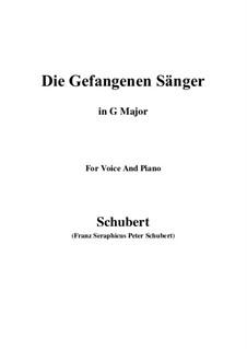 Die gefangenen Sänger, D.712: G Major by Franz Schubert