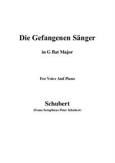 Die gefangenen Sänger, D.712: G flat Major by Franz Schubert