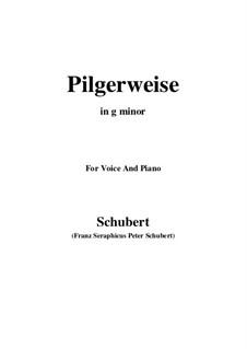 Pilgerweise, D.789: Für Stimme und Klavier (G minor) by Franz Schubert