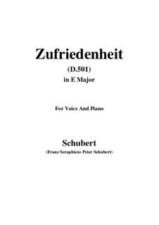 Zufriedenheit, D.501: E Major by Franz Schubert