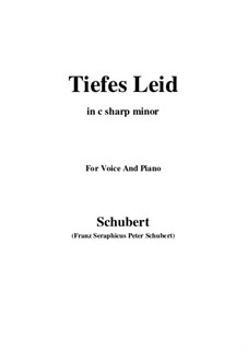 Tiefes Leid, D.876: For voice and piano (c sharp minor) by Franz Schubert