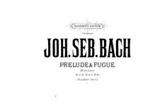 Präludium und Fuge Nr.18 in e-Moll 'Wedge', BWV 548: Bearbeitung für Klavier, vierhändig by Johann Sebastian Bach