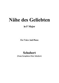 Nähe des Geliebten, D.162 Op.5 No.2: Für Stimme und Klavier (F-Dur) by Franz Schubert