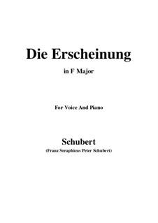 Die Erscheinung (Erinnerung), D.229 Op.108 No.3: F-Dur by Franz Schubert