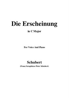 Die Erscheinung (Erinnerung), D.229 Op.108 No.3: C-Dur by Franz Schubert