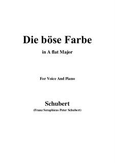 Nr.17 Die böse Farbe: Für Stimme und Klavier (A Flat Major) by Franz Schubert