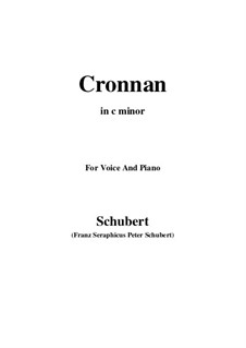 Cronnan, D.282: C minor by Franz Schubert