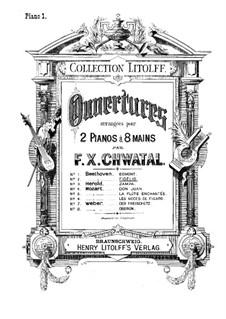 Ouvertüre: Version für zwei Klaviere, achthändig – Klavierstimme I by Ludwig van Beethoven