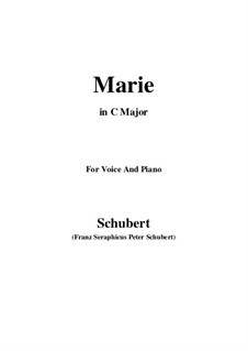 Marie, D.658: C-Dur by Franz Schubert
