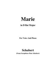 Marie, D.658: D flat Major by Franz Schubert