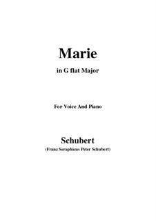 Marie, D.658: G flat Major by Franz Schubert