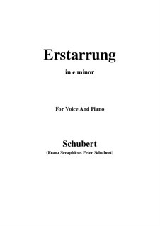 Nr.4 Erstarrung: For voice and piano (e minor) by Franz Schubert