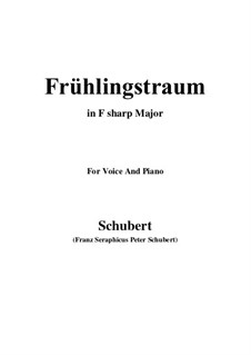 Nr.11 Frühlingstraum: For voice and piano (F sharp Major) by Franz Schubert
