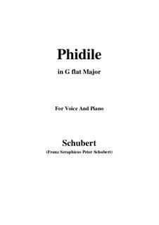 phidile, d.500 von f. schubert - noten auf musicaneo  musicaneo