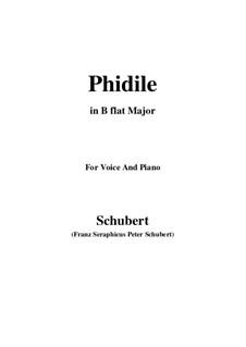 Phidile, D.500: B flat Major by Franz Schubert