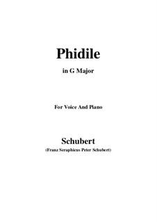 Phidile, D.500: G Major by Franz Schubert