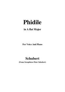 Phidile, D.500: A flat Major by Franz Schubert