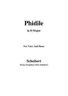Phidile, D.500: D Major by Franz Schubert