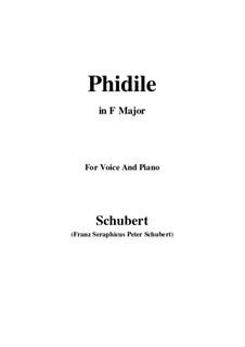 Phidile, D.500: F-Dur by Franz Schubert