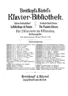 Die Weihe des Hauses, Op.124: Version für zwei Klaviere, achthändig – Klavierstimme II by Ludwig van Beethoven