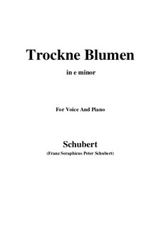 Nr.18 Trockne Blumen: For voice and piano (e minor) by Franz Schubert