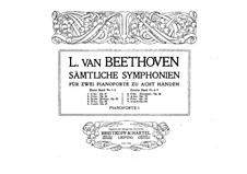Sinfonie Nr.3 'Eroica', Op.55: Version für zwei Klaviere, achthändig – Klavierstimme I by Ludwig van Beethoven