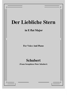 Der liebliche Stern, D.861: Für Stimme und Klavier (E Flat Major) by Franz Schubert