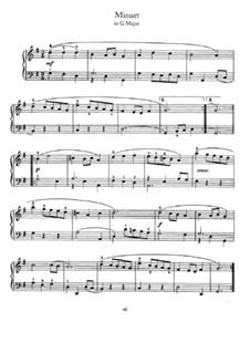Menuett in G-Dur: Für Klavier by Johann Sebastian Bach