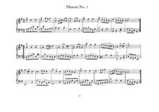 Menuett in G-dur, BWV 841: Für Klavier by Johann Sebastian Bach