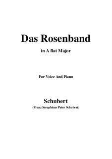 Das Rosenband, D.280: Für Stimme und Klavier (A Flat Major) by Franz Schubert